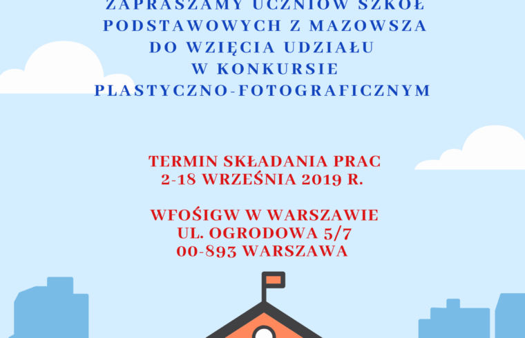WFOŚiGW w Warszawie plakat konkurs dla uczniów