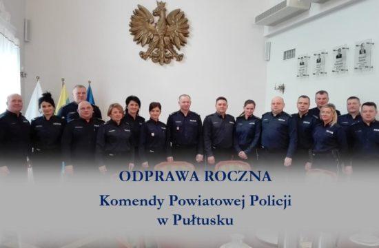 ODPRAWA ROCZNA PUŁTUSKIEJ POLICJI