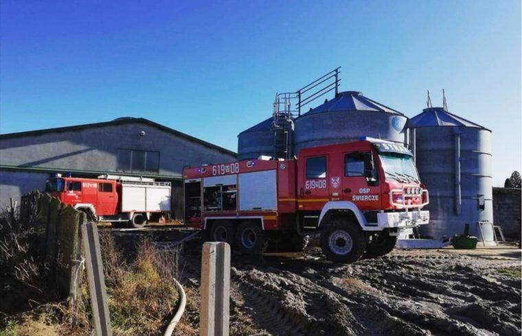 pożar w Dziarnowie, - foto OSP Świercze