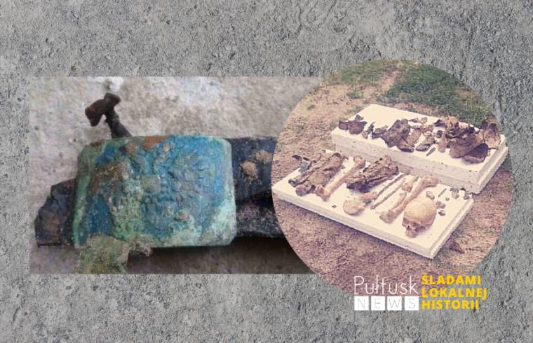 szczątki zołnierza armii carskiej odkryte w Rząśniku