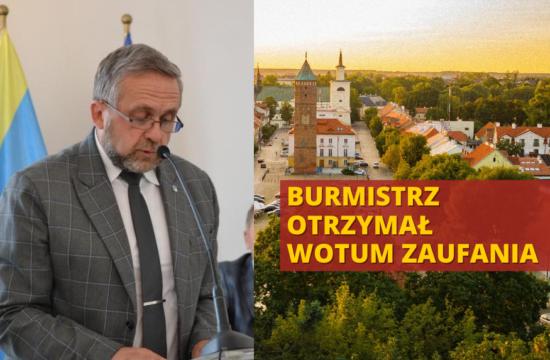 wotum zaufania dla burmistrza Pułtuska