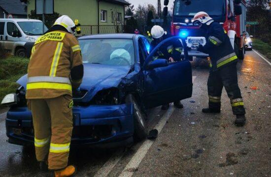 wypadek w Kowalewicach - OSP Świercze