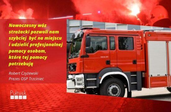 Nowy wóz strażacki OSP Trzciniec