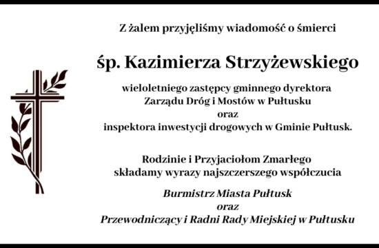 kondolencje śp Strzyżewski